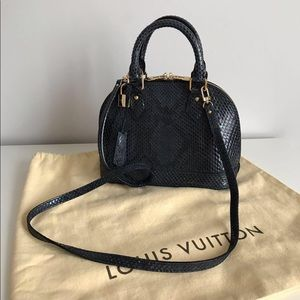 Louis Vuitton Alma BB Exotic Python Leather